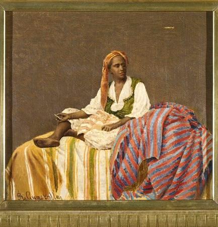 Roberto Guastalla - Donna negra seduta che fuma_ 1887_p